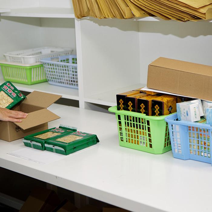 V expedici balíčky kompletujeme<br>a připravujeme k odeslání klientům.